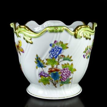 Herendi porcelán Viktória mintás kaspó