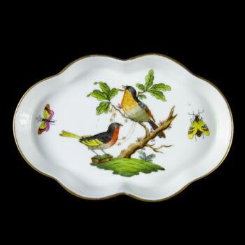 Herendi porcelán Rothschild mintás tálka