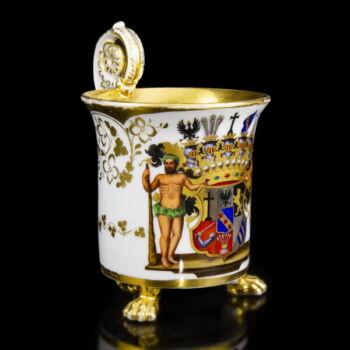 K.P.M. 1849-70 Empire stílusú lábas csésze