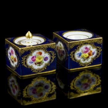 Meisseni porcelán tintatartó pár