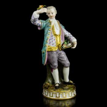 Meisseni porcelán udvarló férfi figura