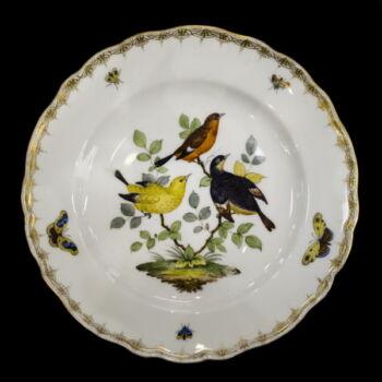 Meisseni stílusú porcelán tányér