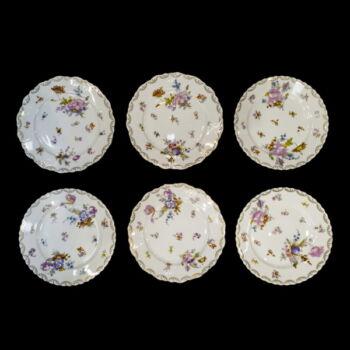 O.& E.G .Royal (Oskar & EdgarGutherz Royal) Austria porcelán süteményes tányér 12 db