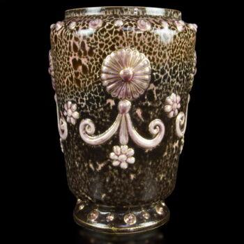 Zsolnay váza rózsaszín sorozatból