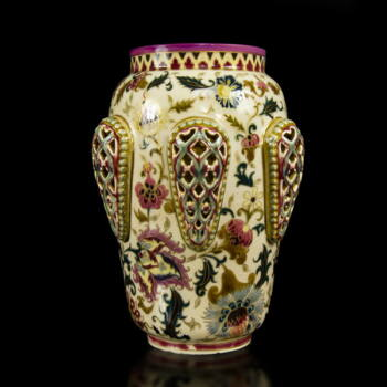 Zsolnay perzsa dekoros váza