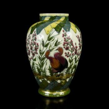 Zsolnay madaras öblös váza