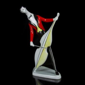 Zsolnay zenész porcelán figura