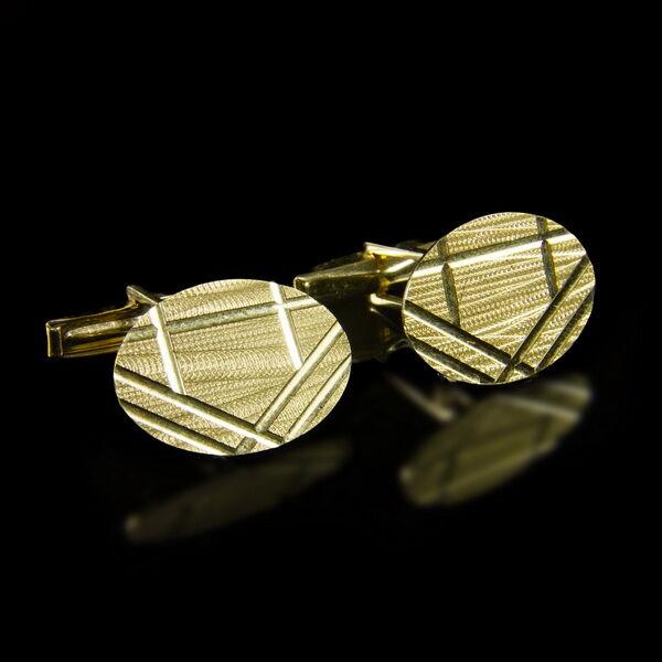 14 karátos arany mandzsettagomb pár