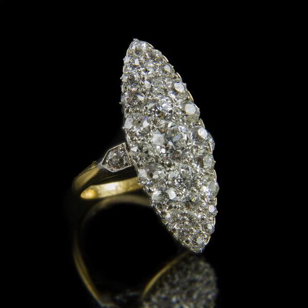 Art deco gyémánt köves női gyűrű