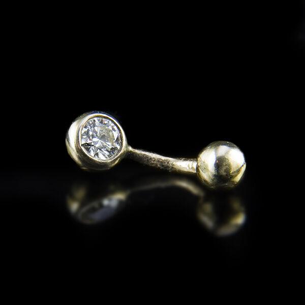 Gyémánt köves arany testékszer