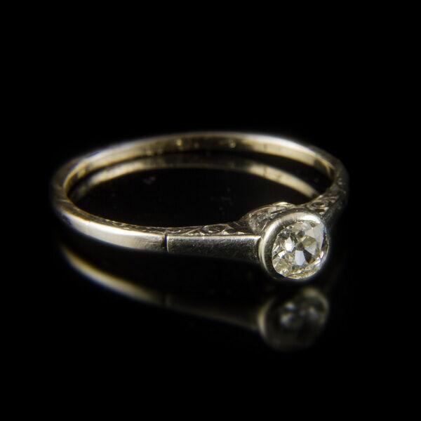 14 karátos gyémánt köves fehérarany eljegyzési gyűrű