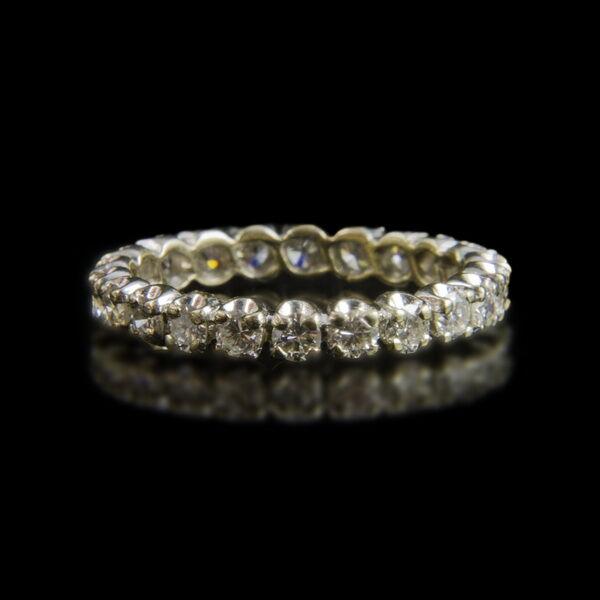 Fehérarany Sport-gyűrű 22 db gyémánt kővel