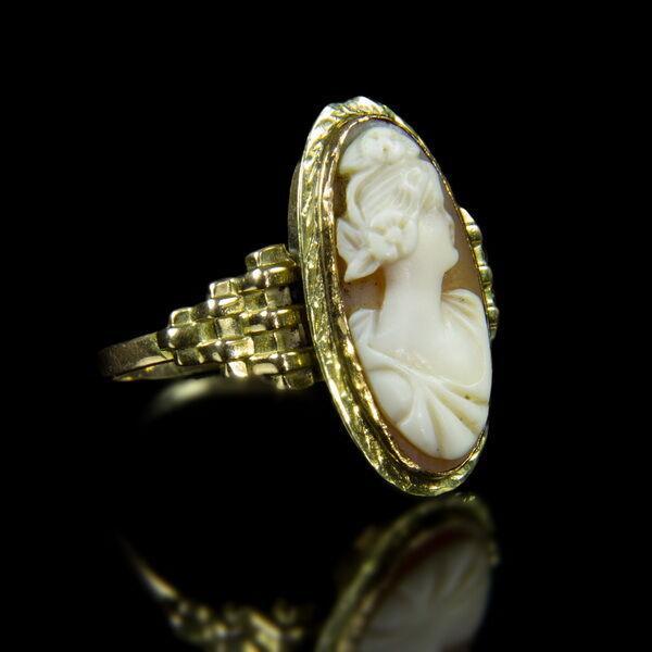 Pesti Art deco kámeás női gyűrű