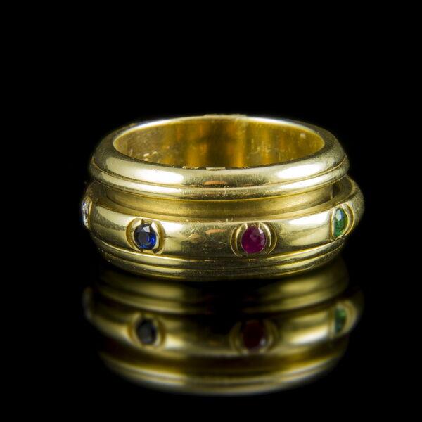 Piaget arany gyűrű drágakövekkel
