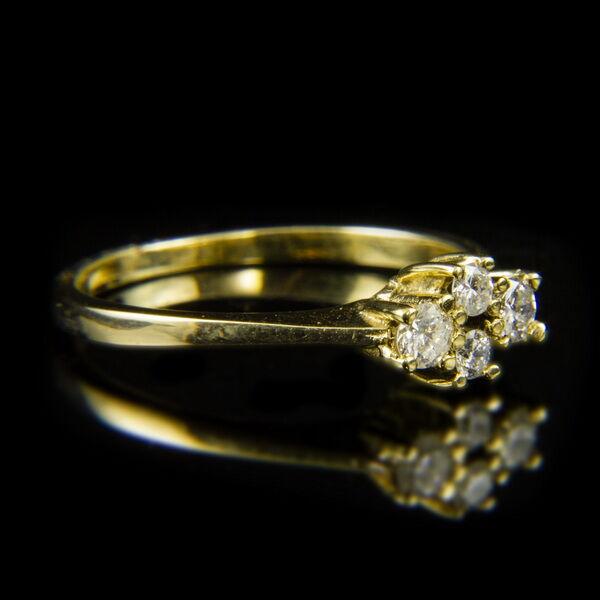 Négyköves  sárgaarany gyémánt gyűrű