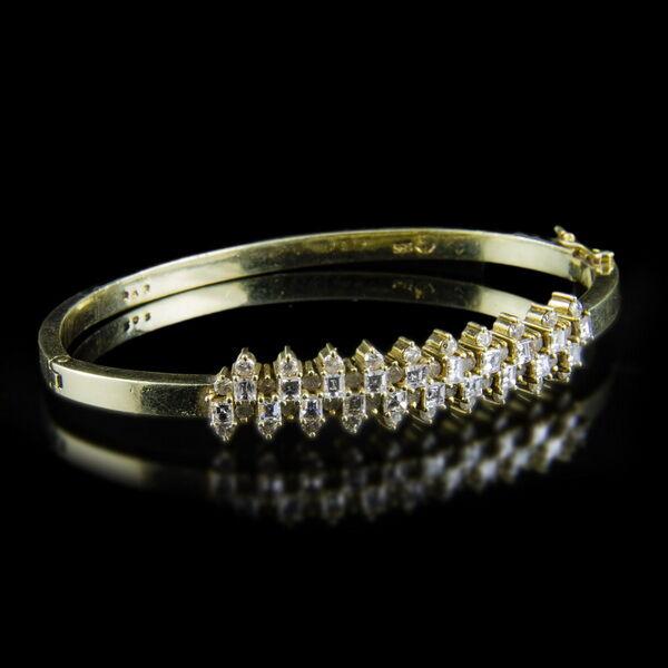 14 karátos arany karreif gyémánt kövekkel
