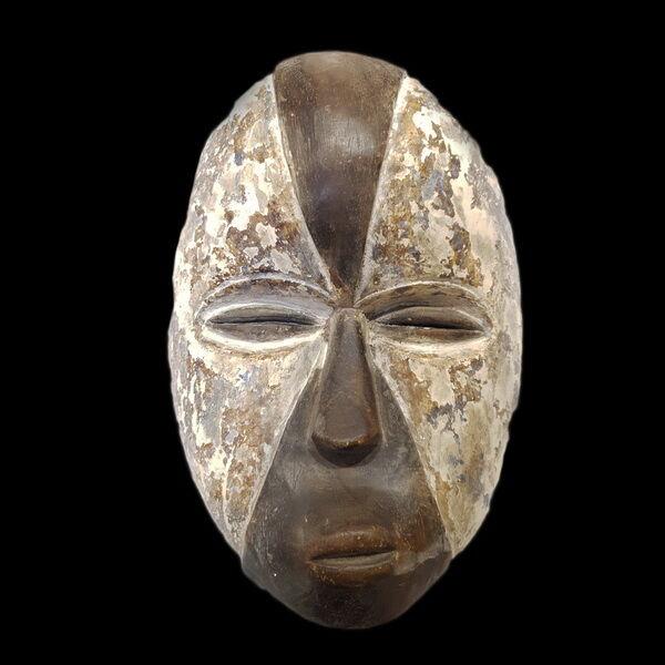 Festett fa afrikai maszk (29 x 22 cm)
