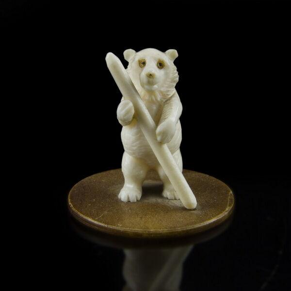 Faragott csont medvebocs figura