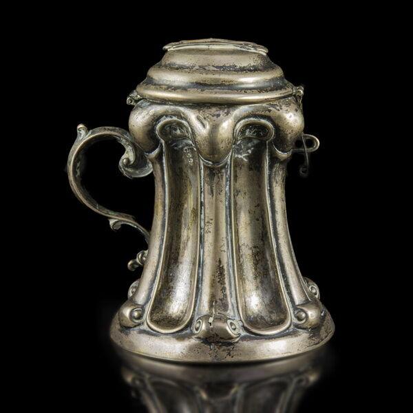Bécsi antik ezüst persely
