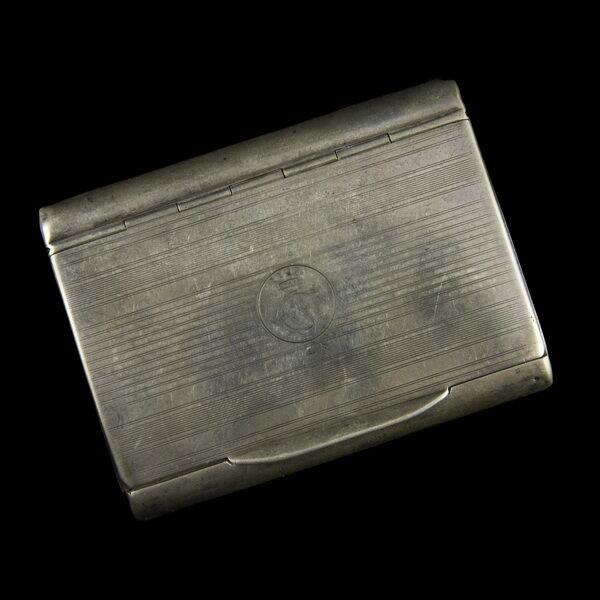 Ezüst tubákos szelence koronás GJ monogrammal