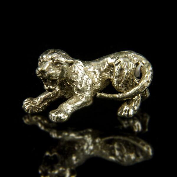 Mini ezüst leopárd figura