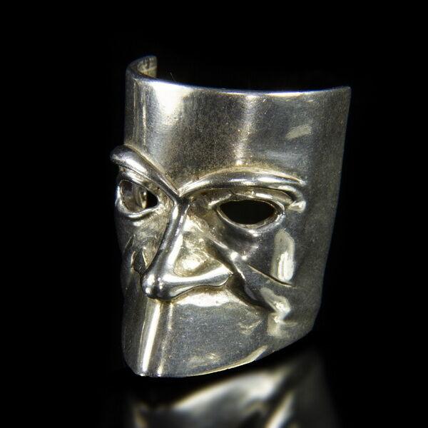 Mini ezüst Velencei karneváli maszk