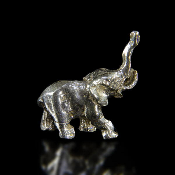 Ezüst mini elefánt figura