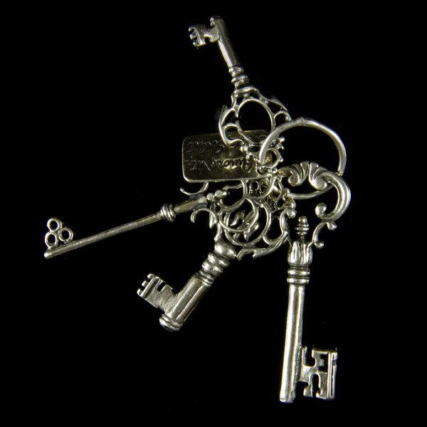 Mini ezüst kulcscsomó