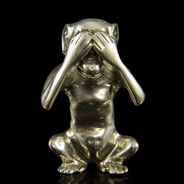 Mini ezüst majom nem lát