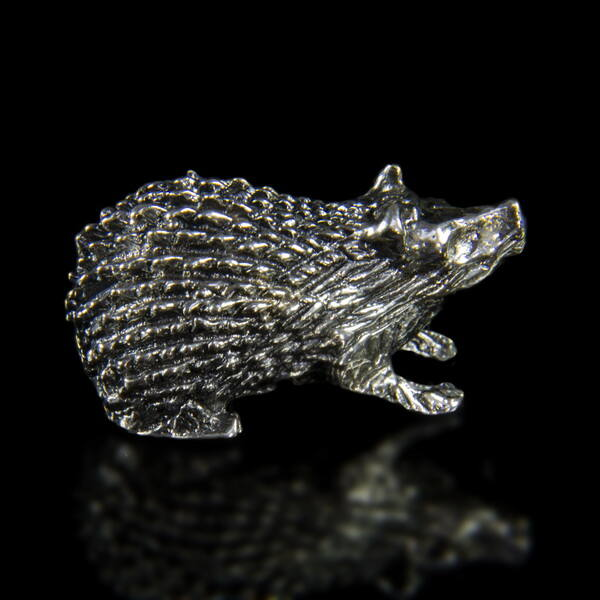 Ezüst mini sün figura
