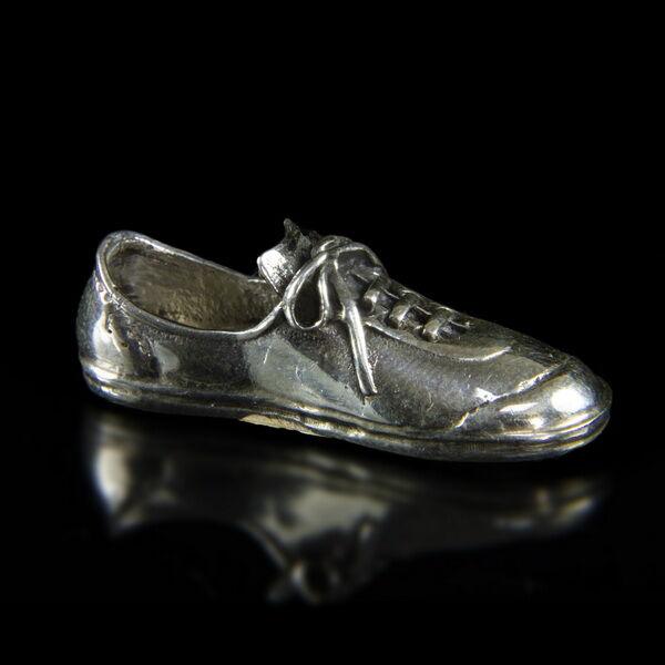 Mini ezüst tornacipő