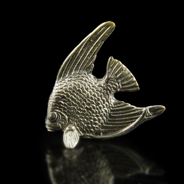 Mini ezüst tengeri hal figura