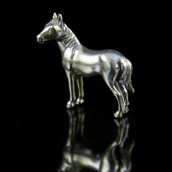 Mini ezüst ló figura