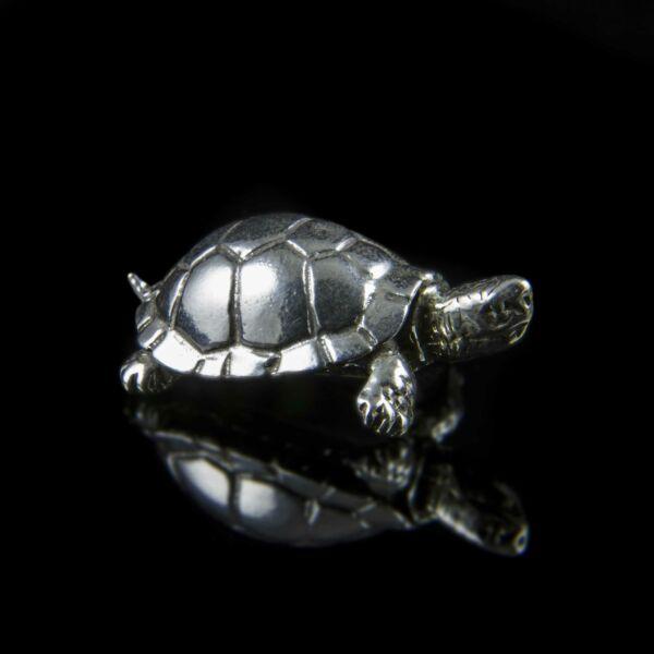 Mini ezüst teknősbéka