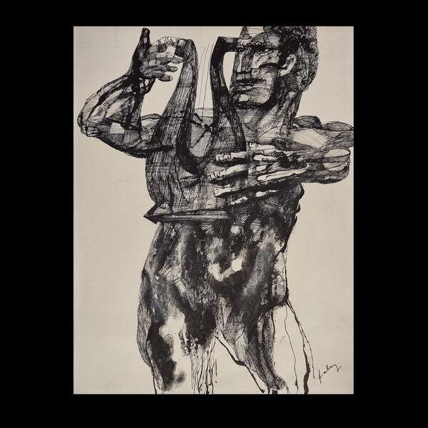 Szalay Lajos (1909-1995)Tusrajz - Lantos