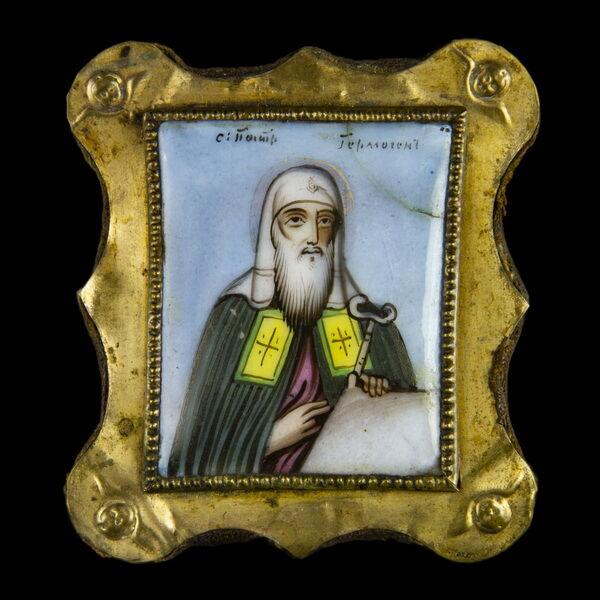 Finift görög pópa képével