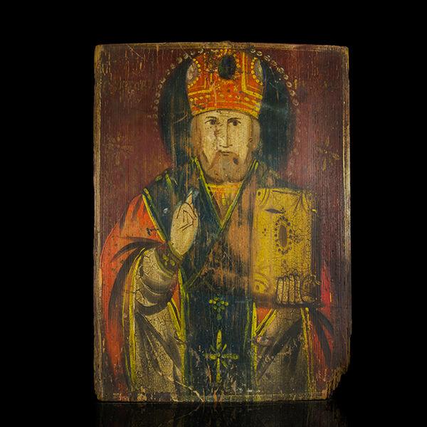 Ikon Szent Miklós képével