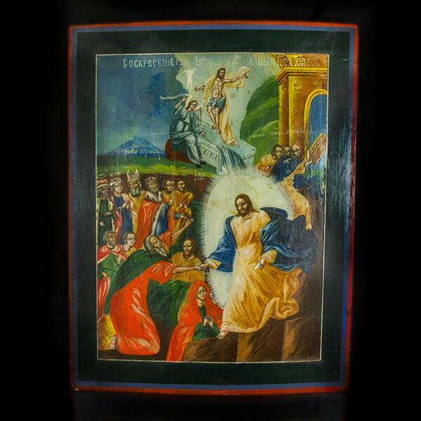 Krisztus pokolra szállása és feltámadása ikon