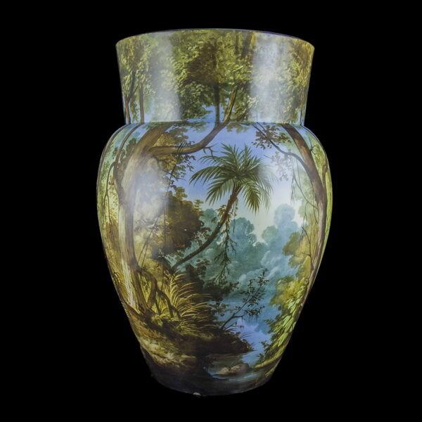 Creil et Montereau francia festett porcelán padlóváza