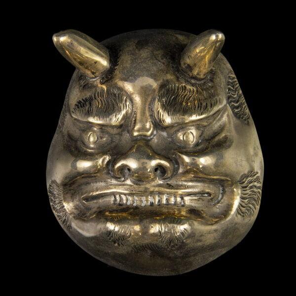 Ezüst ördögfej maszk London 1885