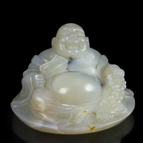Faragott achát Buddha figura