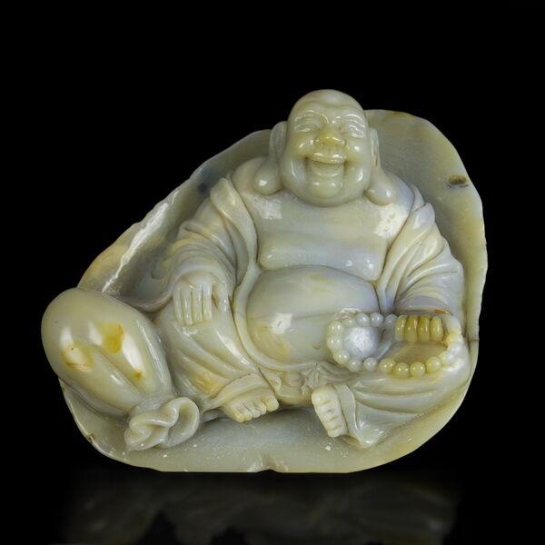 Faragott achát Buddha
