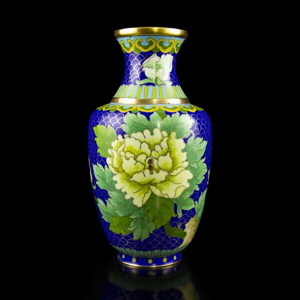 Kínai rekeszzománcos váza