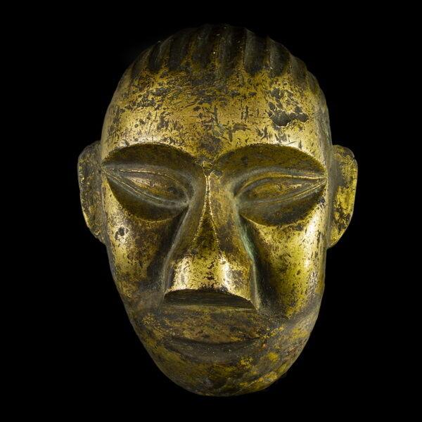Dél-kínai bronz maszk