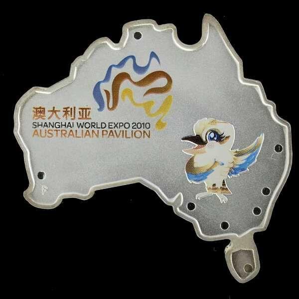 1 Dollár 2010 Ausztrália alakú érme