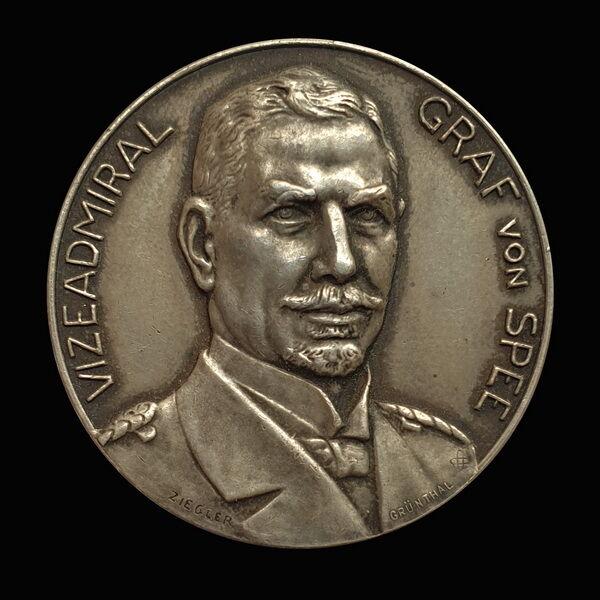 Vizeadmiral Graf von Spee ezüst emlékérem