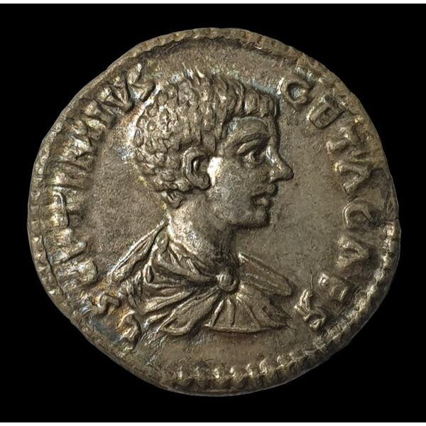Geta római császár ezüst dénár