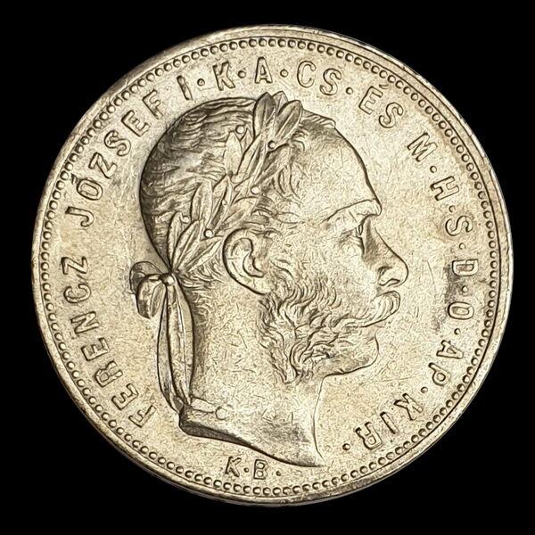 Ezüst 1 Forint 1881 KB Ferenc József