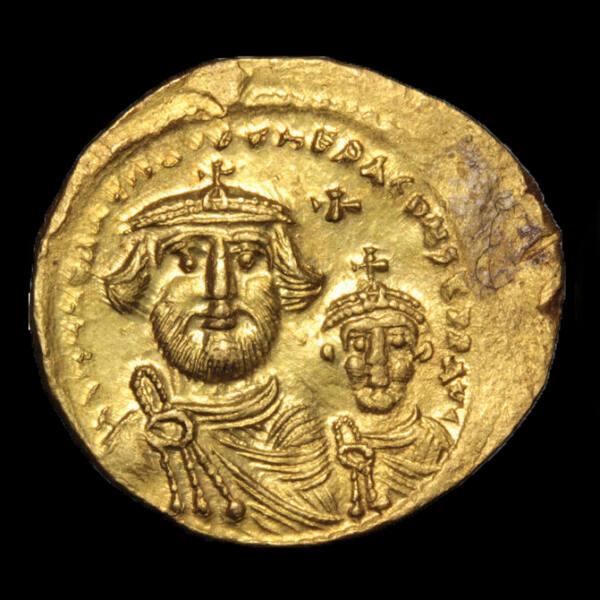 Heraclius és Heraclius Constantine (Kr.u.610-641) - Bizánci arany solidus