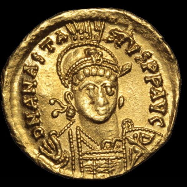 I. Anastasius bizánci császár (Kr.u.491-518) - Arany solidus